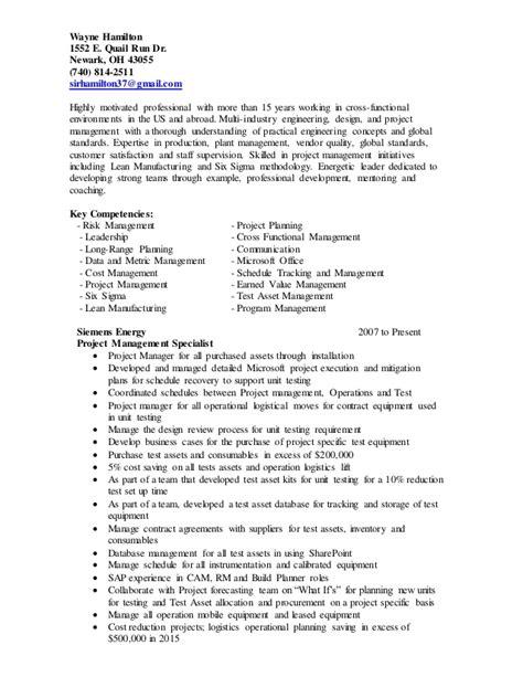 Hamilton Resume by Wayne Hamilton Resume 5 9 16