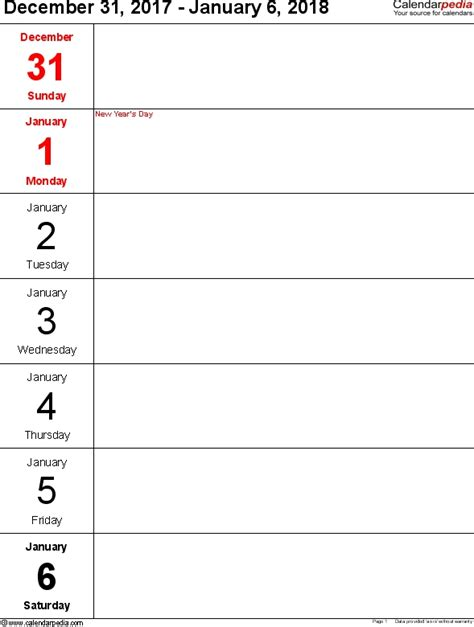 daily calendar template 2018 daily planner template 2018 listmachinepro