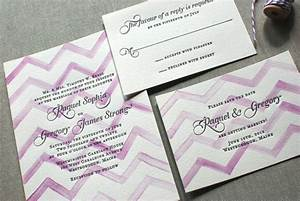 watercolor letterpress wedding invitations invitation crush With chevron letterpress wedding invitations