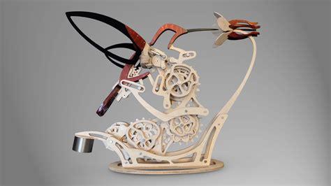 colibri  organic motion sculpture youtube