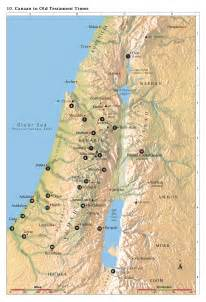 Map of Ancient Israel Old Testament Times