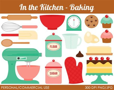 retro canisters kitchen bakery cake clipart clip library