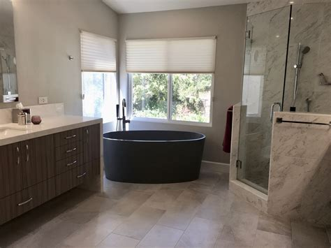 Corner Stand Alone Tub by Birns Design Remodeled Bath With Stand Alone Tub