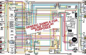 1970 1971 Chevy Chevelle Malibu  U0026 Monte Carlo Color Wiring Diagram