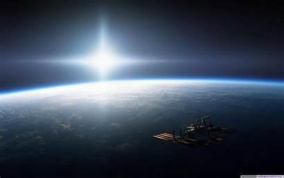 Space Wallpapers Desktop Earth Station Orbit Backgrounds