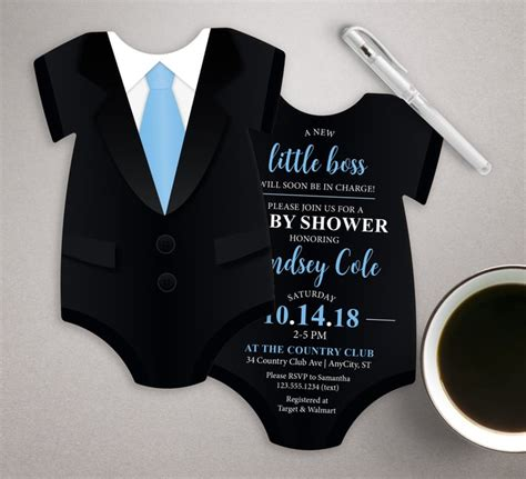 tuxedo baby shower invitation unique baby shower