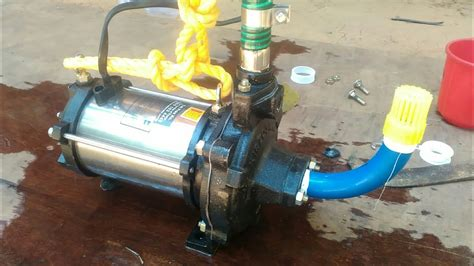 install submersible water pump   youtube