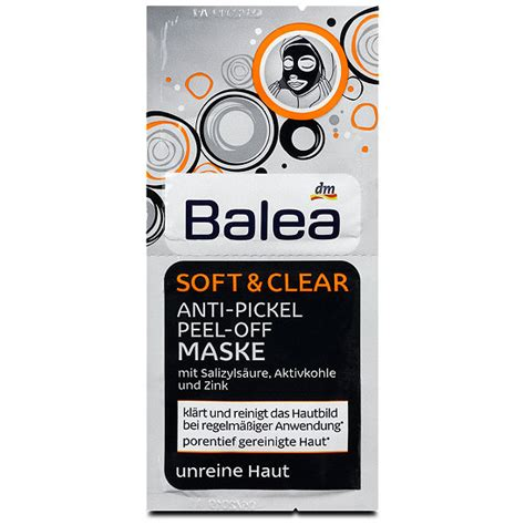 pickel maske schwarz balea soft clear anti pickel peel maske