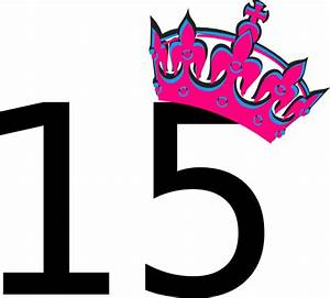 Pink Tilted Tiara And Number 15 Clip Art at Clker.com ...