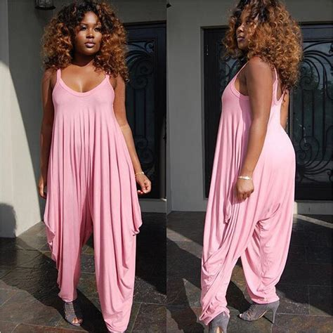 cheap plus size jumpsuits and rompers 2016 summer spaghetti and v neck plus size