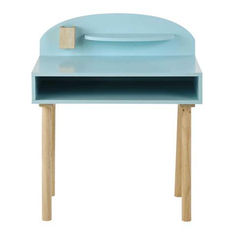 bureau bleu bureau enfant en bois bleu l 70 cm nuage maisons du monde