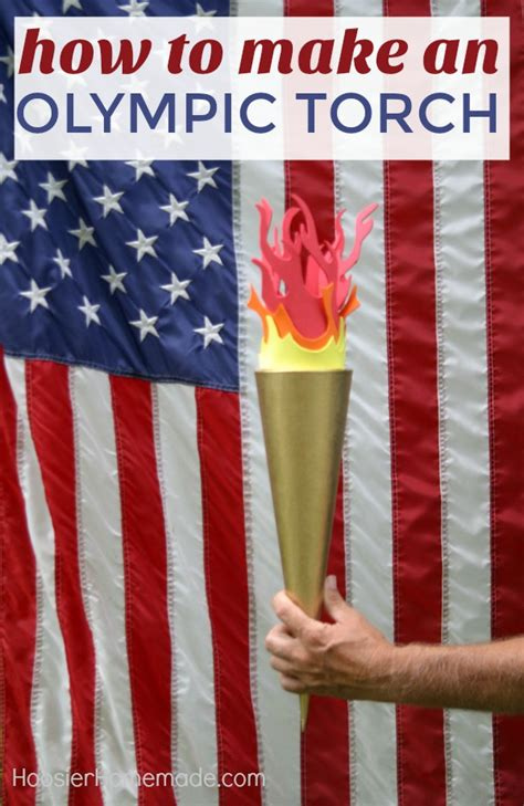 olympic torch hoosier homemade