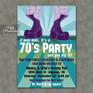 70s party invitations nifty printables With 70 s wedding invitations
