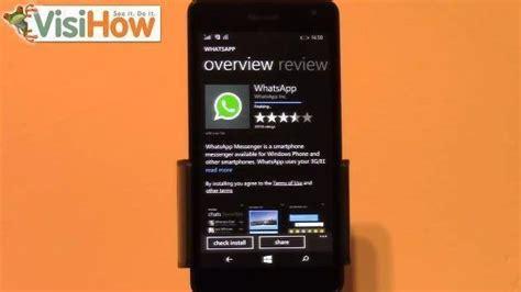 install whatsapp to microsoft lumia 535 visihow