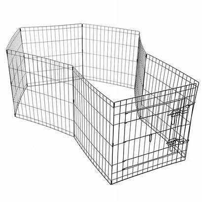 Playpen Dog Pet Fence Cage Exercise Metal