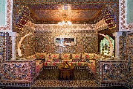 tissu canapé marocain décoration salon marocain moderne ou traditionnel photos