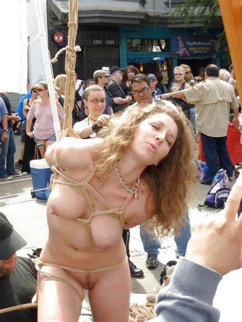 Sexy Blonde Tied In Public Naked Sigrunkastanrazi