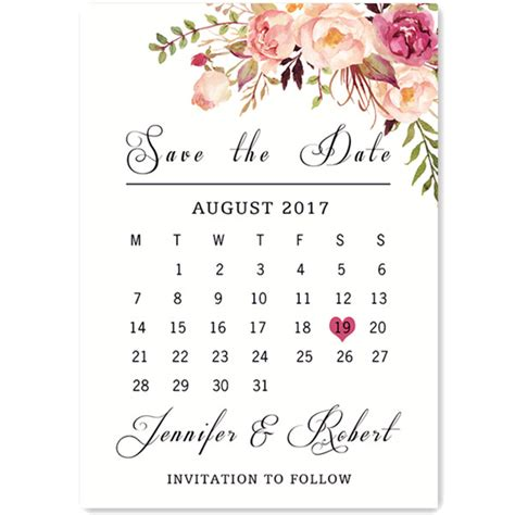 bohemian pink floral watercolor wedding save  date