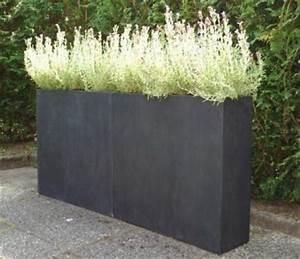 Pflanzen Kübel Beton : pflanzk bel raumteiler trennelement aus fiberglas elemento anthrazit garten ~ Markanthonyermac.com Haus und Dekorationen