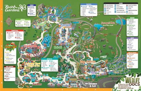 busch gardens directions ta busch gardens park map
