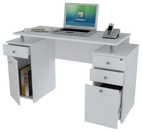 contemporary computer desk white laricina white computer desk with file drawer