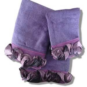 decorative bath towels purple