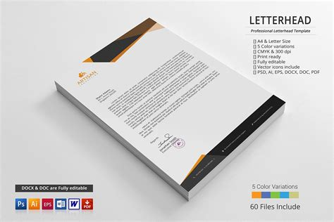 Letterhead ~ Stationery Templates ~ Creative Market