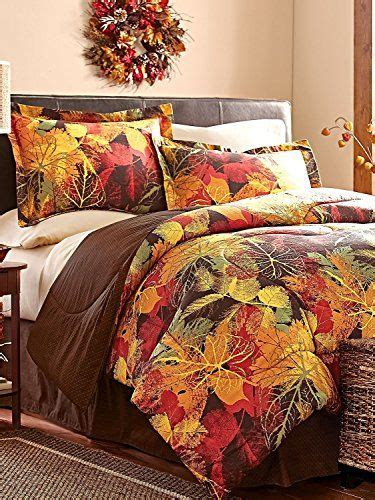 piece full size fall autumn leaves comforter set