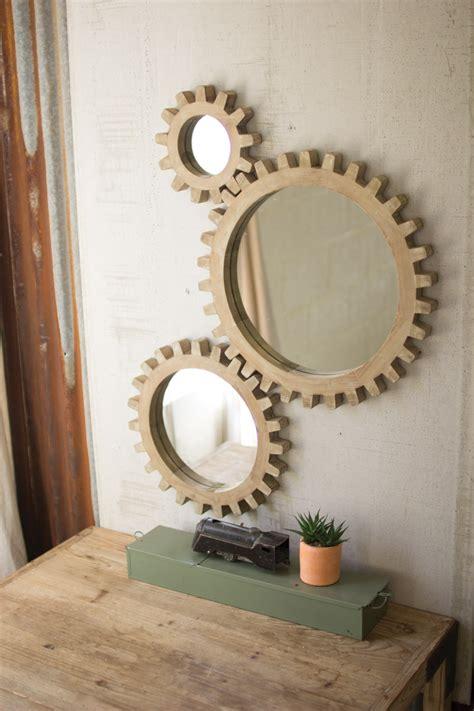 set   wooden gears mirrors