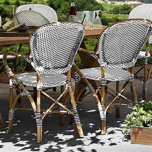 set 1 outdoor rattanmobel franzosischer charme fur With französischer balkon mit garten rattanmöbel