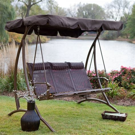 canapé swing 9 cool and cozy patio swing with canopy designs