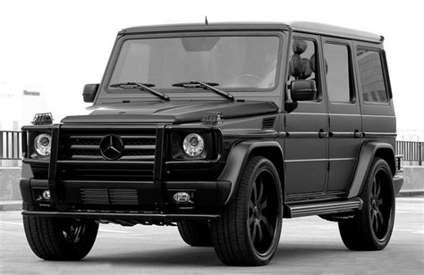 It's safe to say that most onlookers won't be able to quickly tell apart the two. Mercedes-Benz Wagon Matte Black. DREAM CAR | Mercedes g wagon, Mercedes g, G wagon matte black
