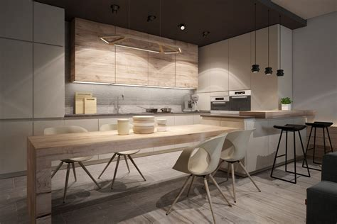 cuisine design a chic pair of interiors with neutral design