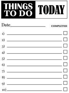 to do list template pdf to do list template free to do list