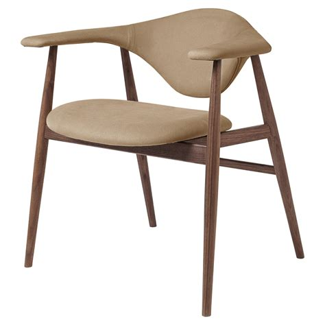 masculo fully upholstered dining chair beige american walnut base rouse home