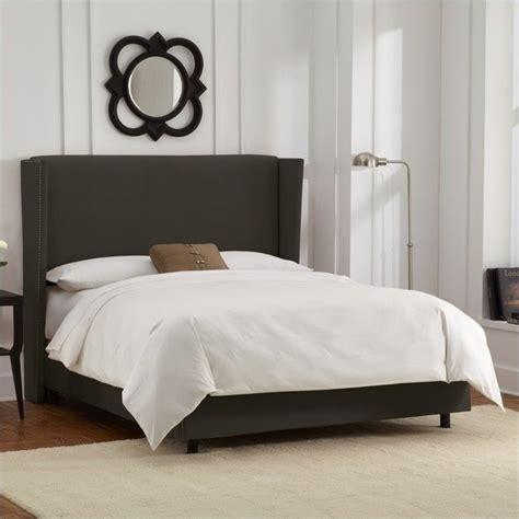 skyline furniture wingback bed in velvet pewter 45xgnbed