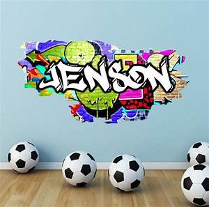 Personalised Graffiti Name Wall Decals Full Colour by ...