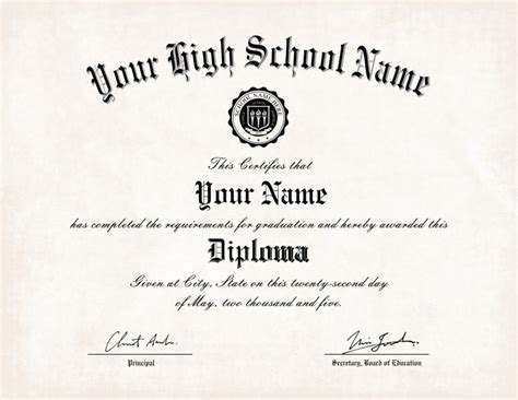 free high school diploma free printable high school diploma templates vastuuonminun
