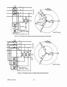 is a diagram of a 3phase 2 element transformertype meter With meter co wiring diagram for single phase 2s 120v 3 wire electric