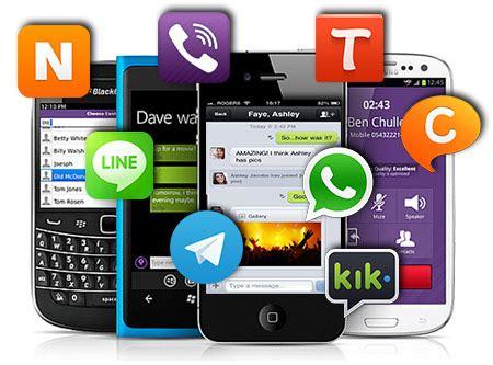 messenger apps whatsapp line viber skype wechat
