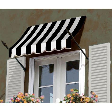 shop awntech  beauty mark  orleans    windowentry awning blackwhite stripe