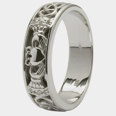 mens claddagh wedding ring sm 14ic4