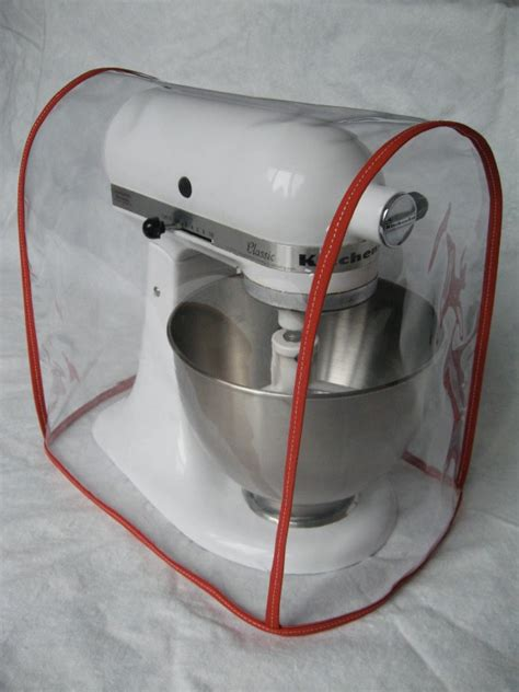 clear mixer cover fits kitchenaid tilt head red trim