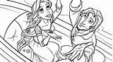 Coloring Pages Rapunzel Tangled Printable Disney Princess Cartoon Everfreecoloring Kidsworksheetfun sketch template