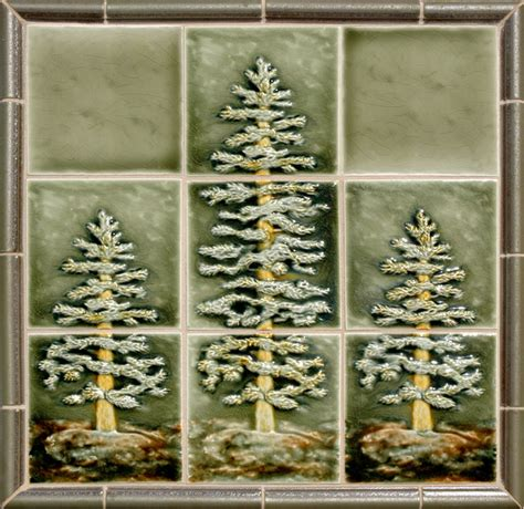 kitchen tile backsplash murals craftsman style rustic tile portland by pratt and