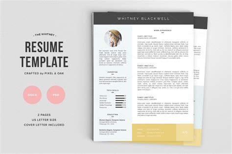 Template De Cv Gratuit by Cv Word Graphiste