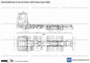 Man E2000 6x64 33xx3 Dfapki 38251800 1100 Short Cab 1996 Plans