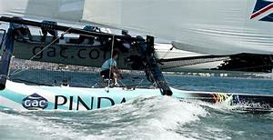 GAC Pindar catches a wave downwind during racing in ...