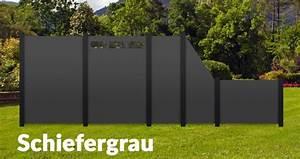 Fassadenpaneele Kunststoff Hornbach : hpl color sichtschutz terrasse hpl element dicht grau rot ~ Watch28wear.com Haus und Dekorationen