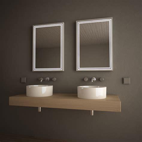 beleuchteter spiegel bad beleuchteter spiegel mit alurahmen framelines 989705151